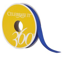 Celebrate It 360 Grosgrain Ribbon, 3/8in, Royal Blue