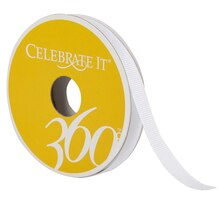 Celebrate It 360 Grosgrain Ribbon, 3/8, White