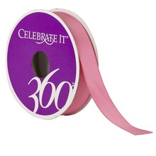 Celebrate It 360 Satin Ribbon, 5/8in, Hot Pink