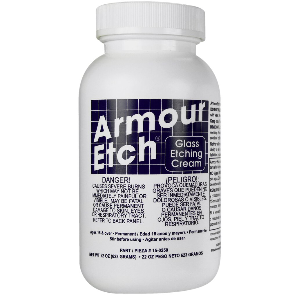 Armour etch glass etching cream for Gel a depolir le verre