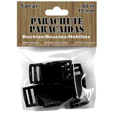 Parachute Cord Buckles, Black, Package