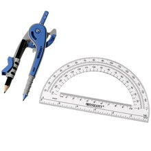 Westcott Compass and Protractor Set