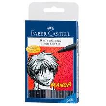 Faber Castell 174 Pitt 174 Artist Pen Manga Basic Set