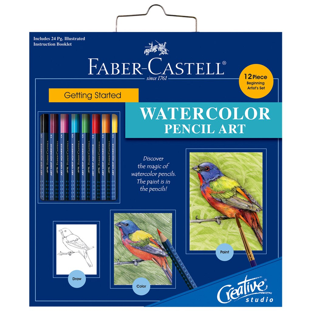 Watercolor books for sale - Faber Castell Getting Started Watercolor Pencil Art Set