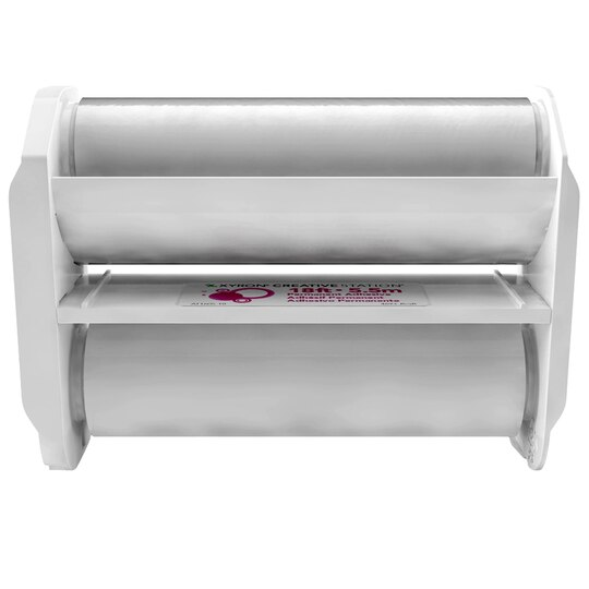 The Xyron can be used with paper up to
