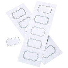 Gartner Studios White and Silver Label Favor Tags