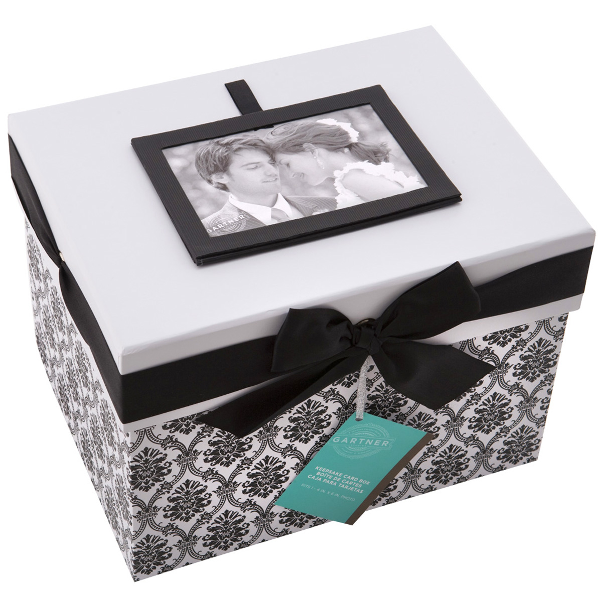 Gartner Studios Black White Keepsake Card Box – Wedding Card Keepsake Box