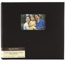 "Recollections Cloth Scrapbook Album, 12"" x 12"" Black"