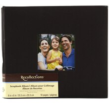 "Recollections Cloth Scrapbook Album, 8"" x 8"" Black"