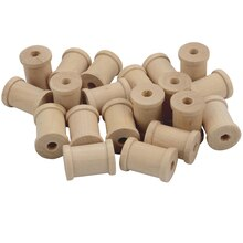 "Lara's Crafts Wood Spools, 3/4"" x 1"""