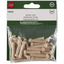 Lara's Crafts Wood Axle Pegs, 1 3/8""