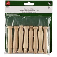 Lara's Crafts Wood Shaker Pegs, 3.375""