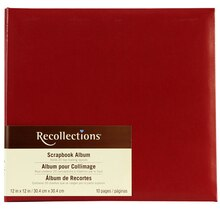 "Recollections Vinyl Scrapbook Albumn, 12"" x 12"", Red"