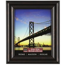 """Black Brown Rubbed Finish Frame, 8"""" x 10"""""""