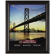 "Black Brown Rubbed Finish Frame 16"" x 20"""