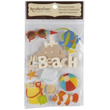 Recollections Signature Dimensional Stickers, Sand Castle