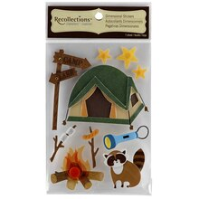 Recollections Signature Dimensional Stickers, Camping