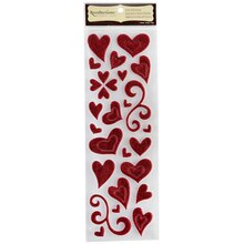 Recollections Signature Glitter Puffy Stickers, Hearts