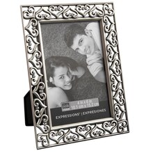 "Studio Décor Expressions Pewter Hearts Frame, 4"" x 6"""