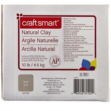 Craft Smart Natural Clay, Gray