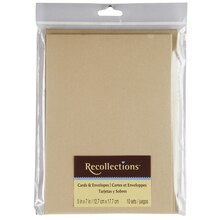 Recollections Cards & Envelopes, Gold Shimmer