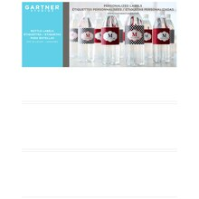 Gartner Studios Printable Water Bottle Labels