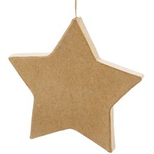 ArtMinds Paper Mache Ornament, Flat Star Alt View