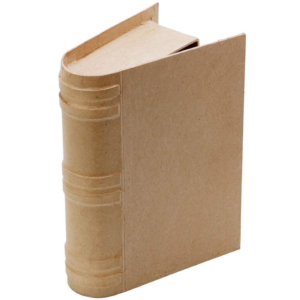 Artminds paper mache book box for Craft paper mache boxes
