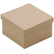 ArtMinds Paper Maché Square Box, Front View A