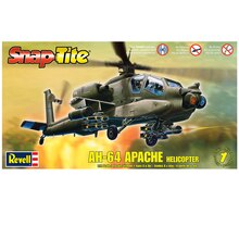Revell Snap Tite Plastic Model Kit, AH-64 Apache Helicopter, Packaged