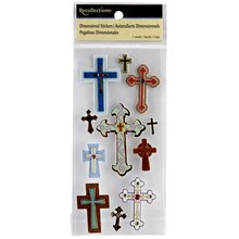 Recollections Dimensional Stickers, Cross