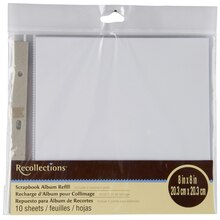 "Recollections Scrapbook Album Refill, 8"" x 8"""