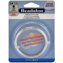 Beadalon German Style Wire, Round, 24 Gauge, Silver