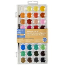 Artist's Loft Fundamentals Watercolor Pan Set