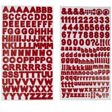 Recollections Block Alphabet Stickers, Red