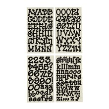Recollections Dot Alphabet Stickers, Large Black