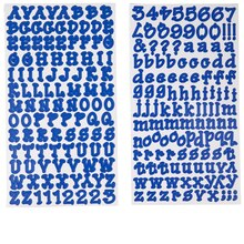 Recollections Dot Alphabet Stickers, Small Sapphire