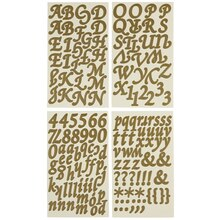 Recollections Alphabet Stickers, Large Golden Girl