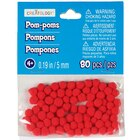 Creatology Pom Poms, 5 mm, Red