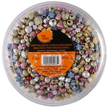 Bead Landing Crafting Beads, Assorted Multi-Colored Metallic