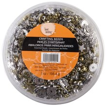 Bead Landing Crafting Beads, Assorted Metallic