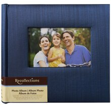 Recollections Striped Photo Album, Navy Blue