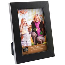 "Studio Décor Simply Essentials Linear Frame, 4"" x 6"" Black"