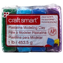 Craftsmart Plastalina Modeling Clay, 4 Cool Colors