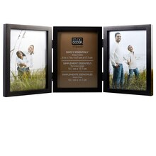 "Studio Décor Simply Essentials 3-Opening Hinged Frame, Black 5"" x 7"""