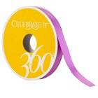 "Celebrate It 360 Double-Faced Satin Ribbon, 3/8"", Grape"