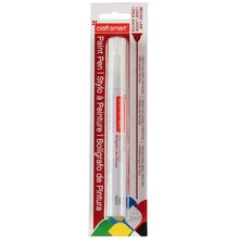 Craftsmart Paint Pen, Broad Line, White