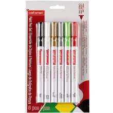 Craftsmart Paint Pen, Fine Line 6 Pc—Holiday