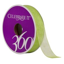 Celebrate It 360 Sheer Ribbon, 5/8in, Lime
