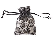 Celebrate It Occasions Organza Favor Bag, White & Black Damask